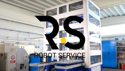 Alimentatore a cassettiera con robot