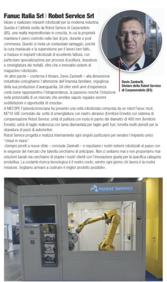 articolo su Devis Zaninelli e Robot Service